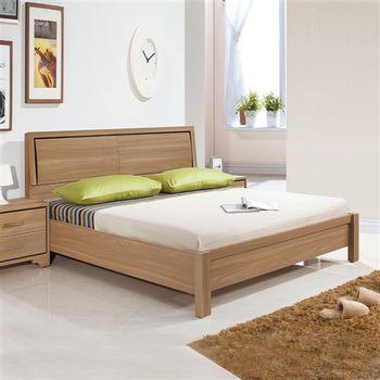 【時尚屋】[UZ6]順益淺胡桃6尺加大雙人床台UZ6-45-10不含床頭櫃-床墊