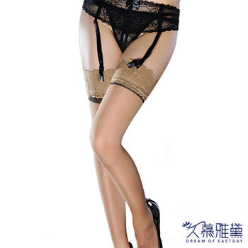 久慕雅黛 性感花邊大腿襪系列 蕾絲金邊