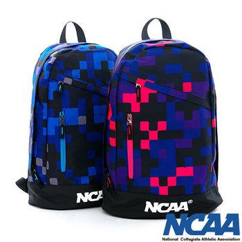 NCAA 跳躍格子 繽紛色彩直拉式後背包_(深藍、深紫色)