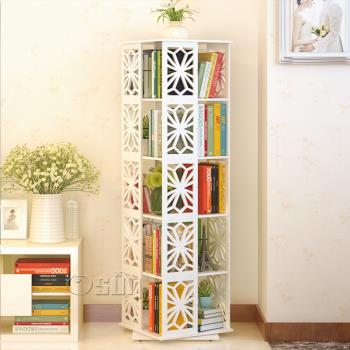 【Osun】DIY木塑板雕花米字五層書櫃-加寬CE-178