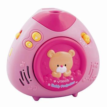 【Vtech】寶貝熊床邊音樂投射機(粉紅)