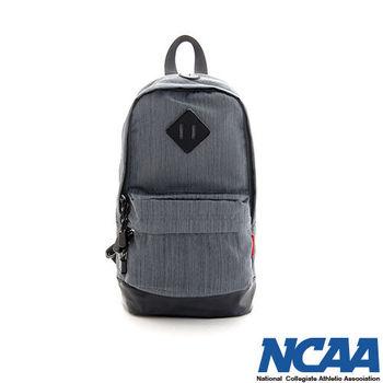 NCAA 單肩後背包 文青風格 豬鼻系尼龍輕量單肩後背包_深灰色