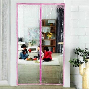【Bunny】PVC透明冷氣安全免穿磁條防蚊門簾(再加贈雙面膠)
