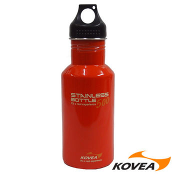 韓國KOVEA露營戶外用SB不鏽鋼水壺-500無BPA 橘