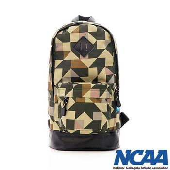 NCAA 幾何印象派 豬鼻系單肩後背包-(綠色、深藍)