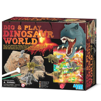 【4M】挖掘考古系列 - 恐龍世界-失落叢林 DigPlay The Dinosaur world 00-15926