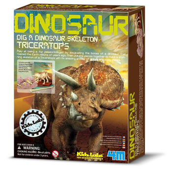【4M】挖掘考古系列 - 三角龍 Triceratops Skeleton 00-03228