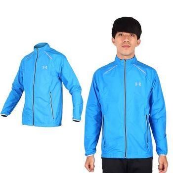 【UNDER ARMOUR】UA 男STORM慢跑風衣外套- 防水 路跑 寶藍黑  防水透氣技術