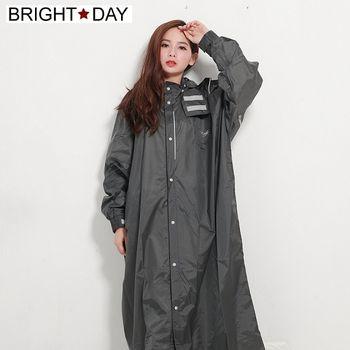 BrightDay風雨衣連身式 - 桑德史東T4前開款-火山灰