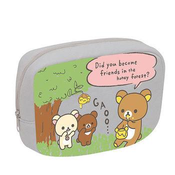 San-X 拉拉熊蜂蜜森林小熊系列棉布化妝包