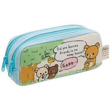 San-X 拉拉熊蜂蜜森林小熊系列雙層棉布筆袋