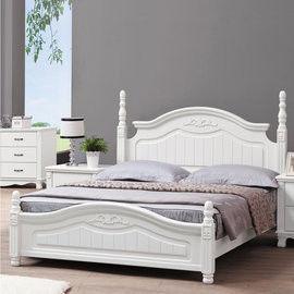 【時尚屋】[UZ6]凡尼斯烤白6尺加大雙人床UZ6-60-5不含床頭櫃-床墊