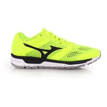 【MIZUNO】SYNCHRO MX 男款慢跑鞋- 路跑 美津濃 螢光綠黑