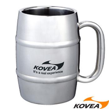 韓國KOVEA露營戶外用品-SM不鏽鋼酒桶型馬克杯500