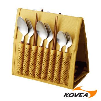 韓國KOVEA露營戶外用品-CU餐具組6人份-附收納包