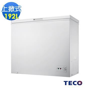 【TECO東元】192公升單門上掀式冷凍櫃 RL1988W