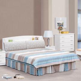 【時尚屋】[UZ6]亞泰6尺加大雙人床UZ6-65-3+65-4不含床頭櫃-床墊