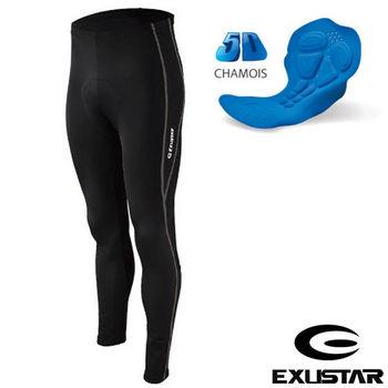 EXUSTAR 3D立體專業長車褲(黑灰) XL