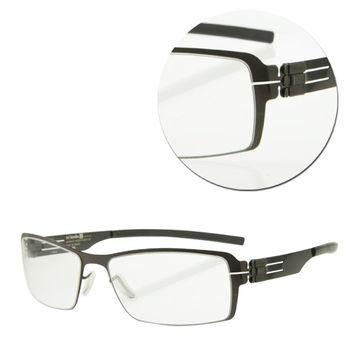 【ic!berlin】德國薄鋼長方青銅色光學眼鏡(Wyberhaken-Gunmetal)
