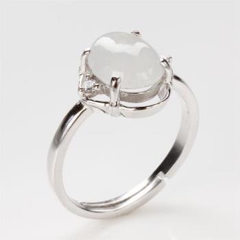 【雅紅珠寶】蘭心蕙性天然冰種白翡翠玉戒指-#11-活圍設計
