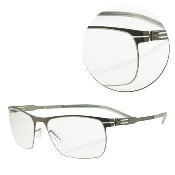 【ic!berlin】德國薄鋼復古石墨灰光學眼鏡(Julius-Graphite)