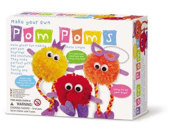 【4M】美勞創作系列 - 波波毛球家族 Make Your Own Pom Poms 00-04635