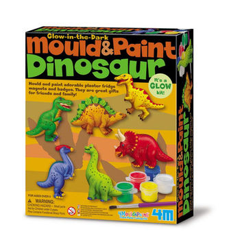【4M】美勞創作系列 - 侏儸紀公園(磁鐵) Mould  Paint / Dinosaur 00-03514