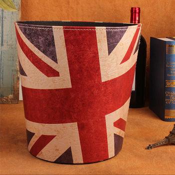 PUSH! 居家生活用品 復古英倫風垃圾桶 置物桶I40