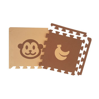 【新生活家】小猴子地墊附邊條-32入