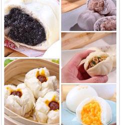 豐郁軒經典包子系列任選5件組(芝麻/鮮肉/芋泥/奶黃/叉燒)