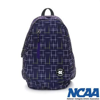NCAA 雙層直拉式 筆電包 後背包_深藍紫色
