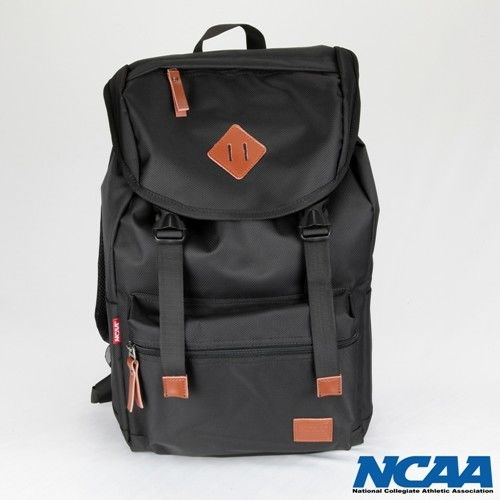 NCAA 防潑水豬鼻拉繩後背包_黑色