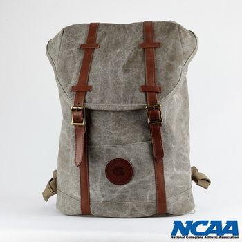 NCAA北卡隊棉帆布水洗拉繩後背包-(卡其色、黑色)