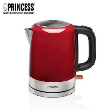 《PRINCESS荷蘭公主》1L不鏽鋼快煮壺/電熱水壺(璀璨紅)236000R