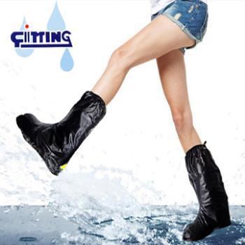 4雙優惠組-NEW全新發售 馬靴型反光防雨鞋套-再加送牛皮防滑鞋墊二雙(市價198)