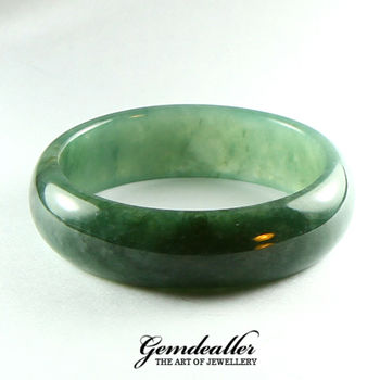 [晉佳珠寶] Gemdealler Jewellery天然 緬甸 A貨 翡翠油青貴妃鐲#17