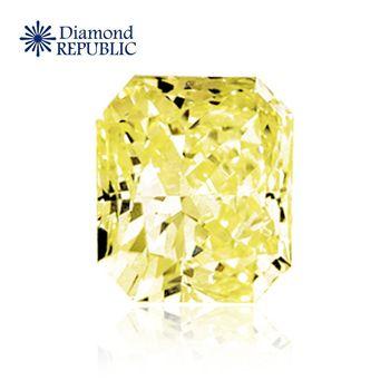 【鑽石共和國】方型褐黃彩鑽GIA 0.3克拉  Fancy Light Brownish Yellow / VS2