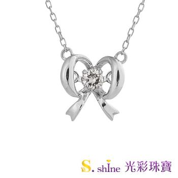 日本舞動鑽石項鍊 漂亮的絲帶