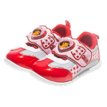 布布童鞋 DORA朵拉愛心電燈休閒鞋 [ AN3772A ] 紅色款