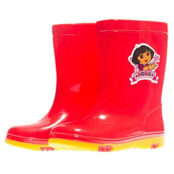 布布童鞋 DORA朵拉童紅紫色雙色雨鞋 [ AM3753A ] 紅色款