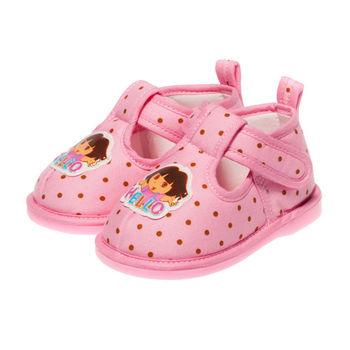 布布童鞋 DORA朵拉浪漫粉紅點點學步鞋 [ AA3036G] 粉紅款