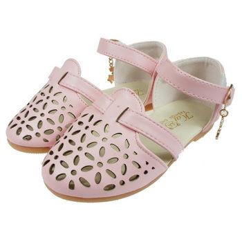 布布童鞋 星星吊飾花漾粉色公主鞋 [OF1K08G]