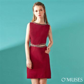 【OMUSES】歐美寶石修身洋裝37-9806(S-L)