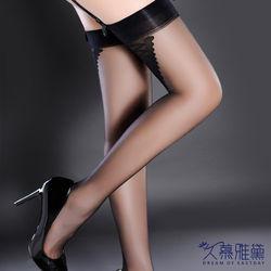 久慕雅黛 複古長筒超薄東森購物台地址黑色背線大腿襪