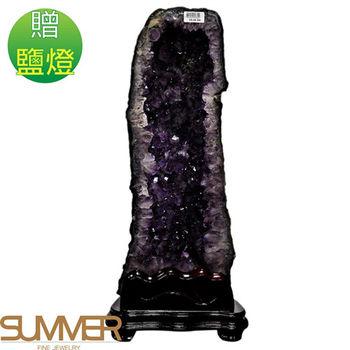 【SUMMER寶石】《14.1kg》巴西3A天然紫晶洞《加贈鹽燈》(1127-07)