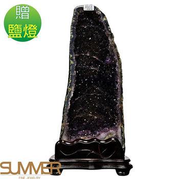 【SUMMER寶石】《15.4kg》巴西3A天然紫晶洞《加贈鹽燈》 (1127-03)