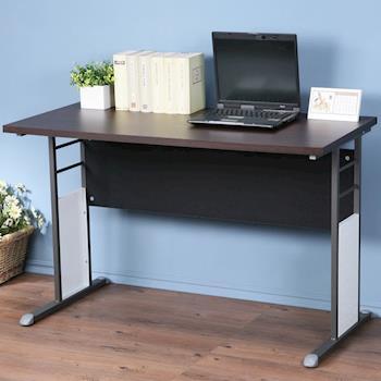Homelike 巧思辦公桌 炫灰-胡桃加厚桌面120cm