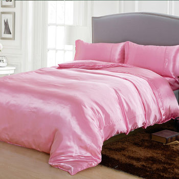 RODERLY 貝殼粉-絲緞 加大四件式被套床包組