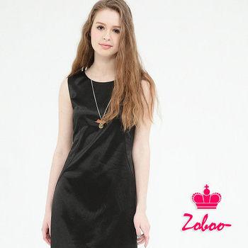 Zoboo--無袖氣質圓領洋裝