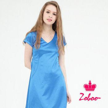 Zoboo----  小資族V領無袖素面修身洋裝